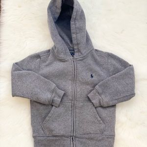 Polo Ralph Lauren gray ziphoodie for boys size 4T